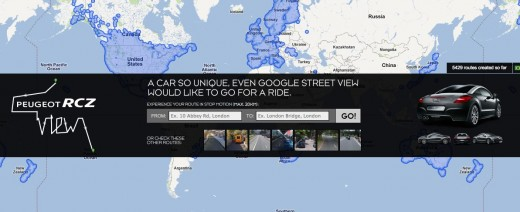 Convofy 51 520x212 This Peugeot RCZ and Google Maps mashup is ridiculously awesome
