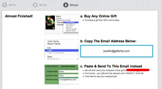 Giftwhip Send a GiftWhip 5 520x285 Make your digital gifts stand out by wrapping them with Giftwhip