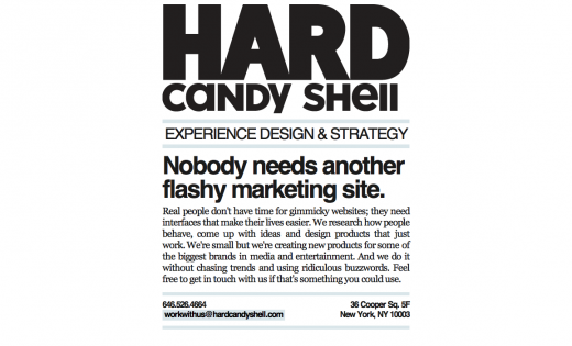 Hard Candy Shell Experience Design Strategy 520x315 9 Reasons why you should consider minimalism for your design portfolio