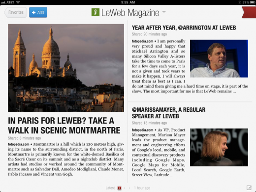 LeWebMagazine3 520x390 Experience LeWeb with the first ever conference magazine for Flipboard, from Fotopedia