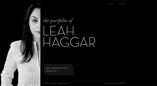Leah Haggar 9 Gorgeous examples of black and white websites