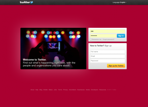 Screen Shot 2011 12 09 at 00.43.35 520x377 Twitters new homepage: Sign up, Sign in or get the F out
