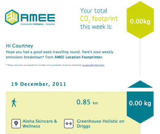 Screen shot 2011 12 20 at 11.19.07 AM 520x436 Track your weekly carbon footprint using Foursquare