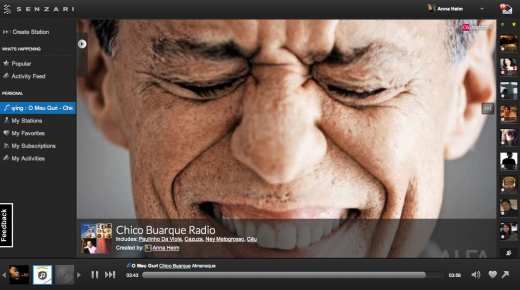 Senzari Chico Buarque 520x290 How music service Senzari plans to take on Pandora and traditional radio