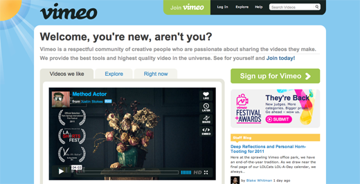 Vimeo 14 awesome examples of illustration in web design