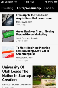 Zite iPhone 200x300 This week in news reading: the aggregator space is heating up