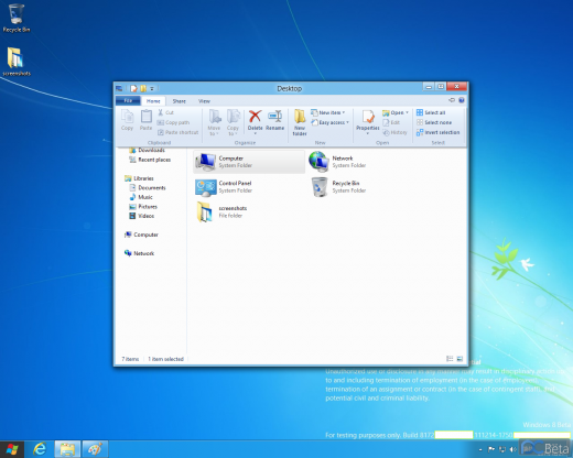 explorer ribbon 520x416 New Windows 8 screenshots confirm Explorers ribbon