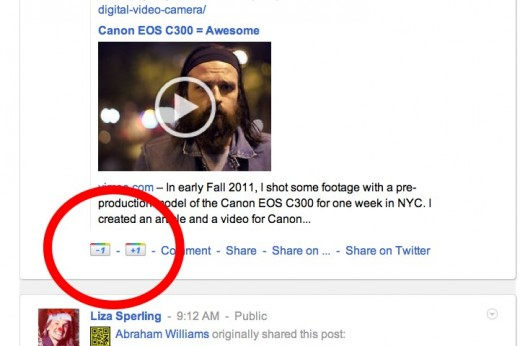 googleminus1 520x346 Add a  1 button to Google+ with this Chrome and Firefox Extension