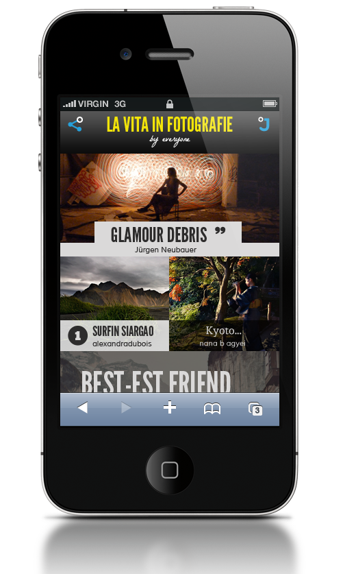 jux iphone gallery1 Jux: Beautiful, cross platform blogging comes to the iPhone
