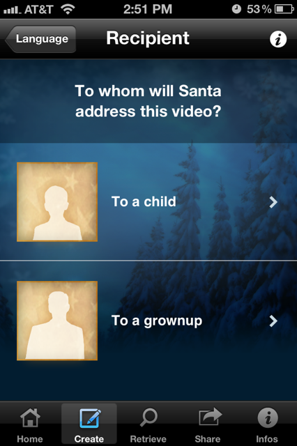 photo 111 Send a somewhat creepy personalized video greeting from Santa with this iOS app