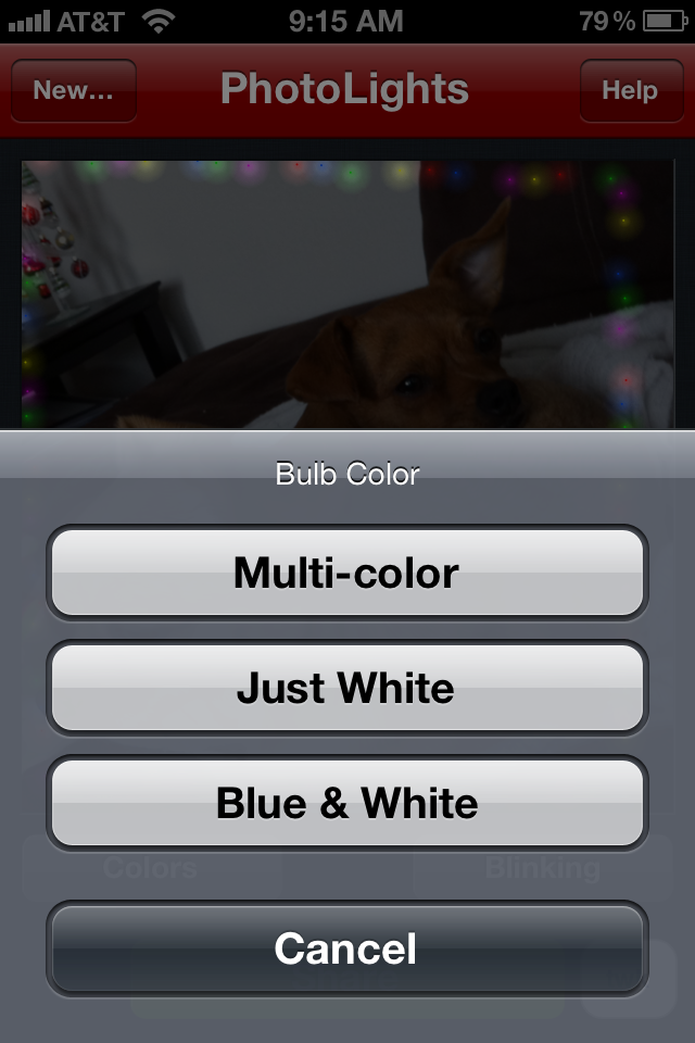 photo 4 Make any picture blink festively with Photo Lights for iOS