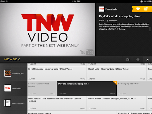 video Nowbox is the slickest way to watch YouTube videos on your iPad