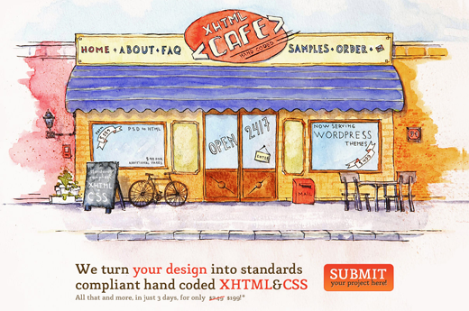 xhtml Cafe 14 awesome examples of illustration in web design
