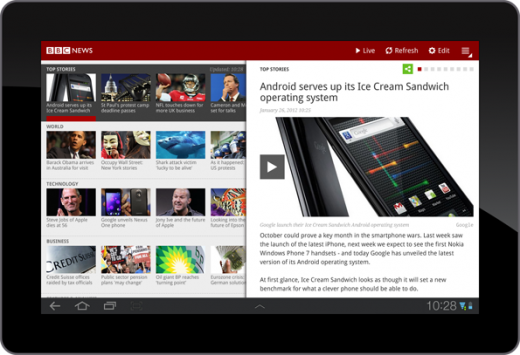 BBCNews Android Tablet App 520x355 The BBC launches its Android News app for Honeycomb tablets