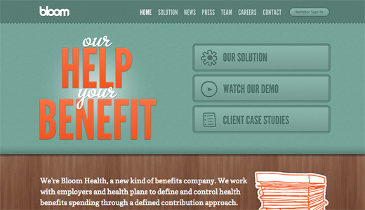 Bloom Health copy 16 Beautiful examples of texture in web design