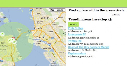 FoursCrowd2 520x272 FoursCrowd shows you crowded foursquare locations to flock to or stay away from