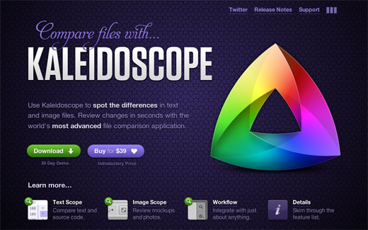 Kaleidoscope copy 16 Beautiful examples of texture in web design