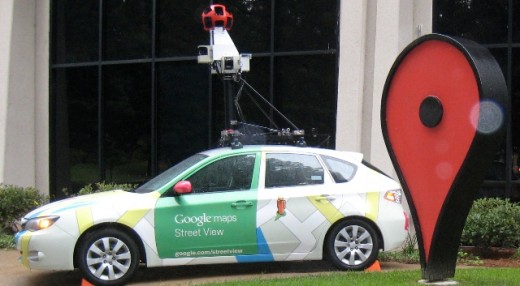 Maps1 520x286 Google receives a €450 fine after its Street View car parks illegally in an Irish street
