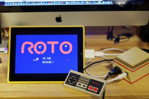 NES controller iPad by Rickards 520x346 Cool hack lets you control your iPad with a NES gamepad