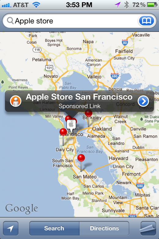 Photo Jan 05 3 53 53 PM 520x780 Hate the ads in the iPhones Maps app? Blame Apple, not Google
