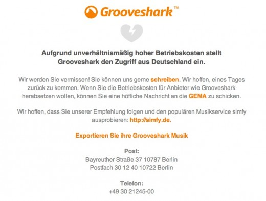 Screen Shot 2012 01 18 at 11.27.32 520x393 Grooveshark forced offline in Germany by copyright organisation