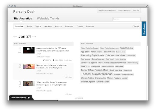 Screen Shot 2012 01 24 at 8.24.26 AM Dash is analytics built specifically for publishers