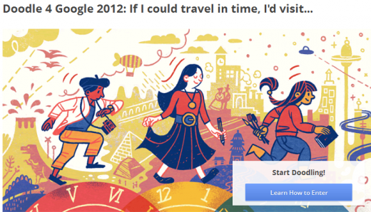 Screenshot 12 520x298 Google launches its 2012 'Doodle 4 Google' contest, this time each US state has a winner