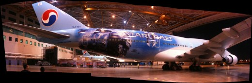 StarCraft2 KoreanAir4 520x171 Nokia paints a plane in India with the Lumia 800 brush   and its heinous