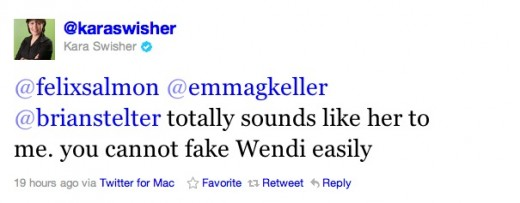 Swisher Wendi 520x203 Wendi Murdochs verified Twitter account was a fake