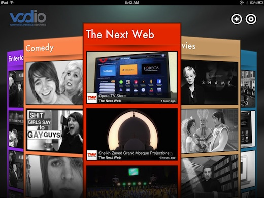 Vodio1 iPad app Vodio is Flipboard for Videos