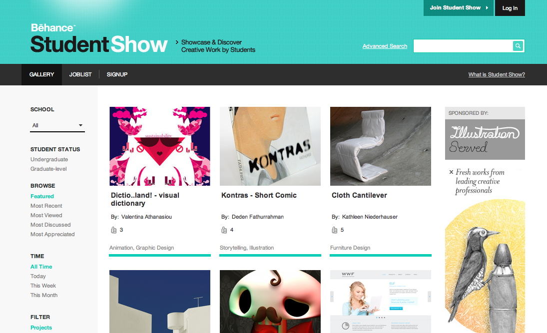 behance Design Students: Discover and showcase your work with Student Show by Behance