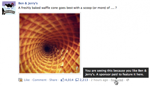 fb sponsored stores 520x301 Facebook launches a tool showing you what sponsored stories look like in your news feed