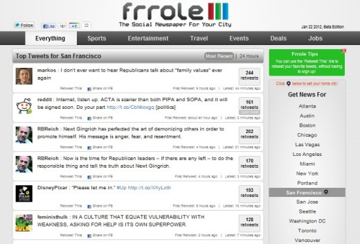 frrole 1 520x352 Frrole is your guide to finding whats hot on Twitter in your city