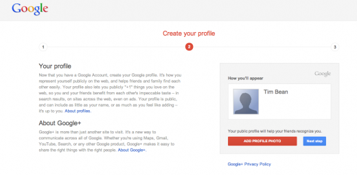 googleplus2 520x256 New Google account users are now forced to sign up to Gmail and Google+