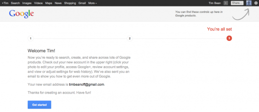 googleplus3 520x225 New Google account users are now forced to sign up to Gmail and Google+