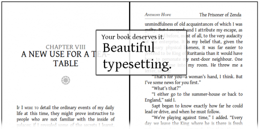 leebre formatting typesetting 520x259 Leebre: a Jamendo inspired platform for free ebooks