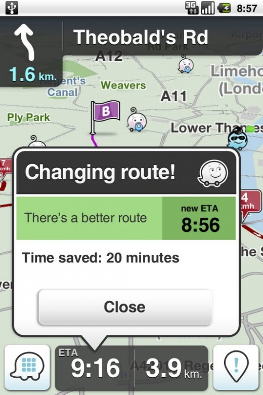 mail.google.com  520x780 Community powered satnav app Waze hits 12m users and launches Android app v3.0