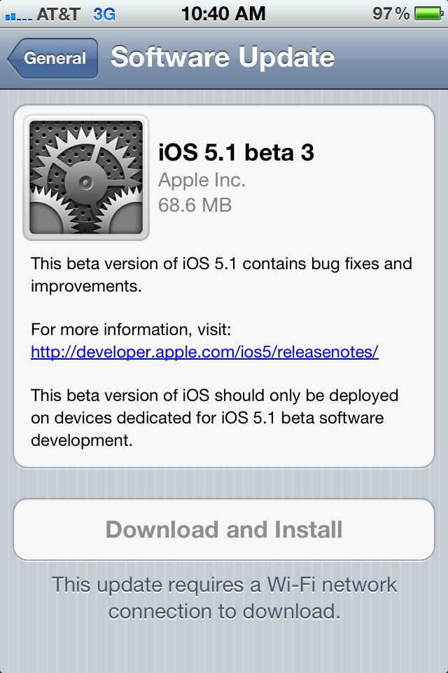 photo3 Apple releases beta 3 version of iOS 5.1 for developers