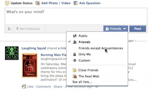 2 Facebook 520x308 Friend Manager lets you drag and drop your Facebook friends into different categories