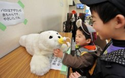 360127 Fluffy robotic seals are helping to ease the pain of tsunami survivors in Japan