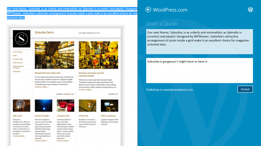 41 520x292 WordPress.com app for Windows 8 launches with fresh Metro interface and Freshly Pressed content