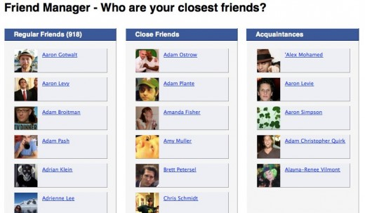 Convofy 148 520x303 Friend Manager lets you drag and drop your Facebook friends into different categories