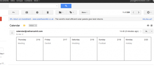 Email 520x224 Short Calendar: A simple Web app to share your plans for the week