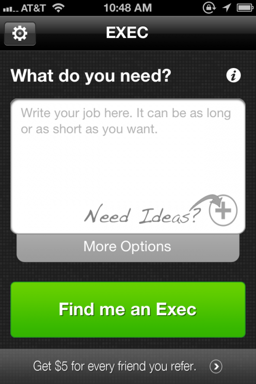 Exec Home 520x780 Giving a nod to Uber, Exec aims to be the outsourcing app for busy professionals