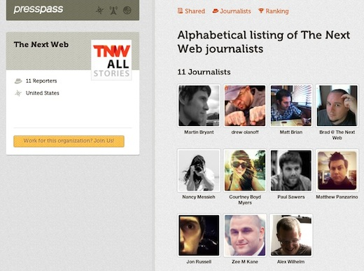 PressPassTNW Looking for coverage? Press Pass, a Twitter powered journalist directory may be the answer
