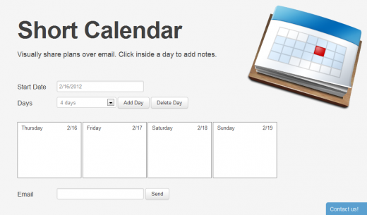 SC1 520x305 Short Calendar: A simple Web app to share your plans for the week
