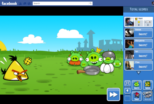Screen Shot 2012 02 13 at 14.14.20 520x352 Angry Birds crashes onto Facebook a day early, available to play now
