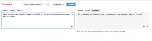 Screen Shot 2012 02 22 at 3.26.24 PM 520x142 Google adds Esperanto to Google Translate, making it the 64th supported language. Neniel!