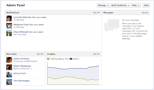 Screen shot 2012 02 29 at 4.04.20 PM New Facebook timeline for brand pages loses landing tabs, gets a new admin panel