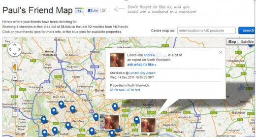 Screenshot 2 520x278 Adzuna launches Friend Map, letting you ask Facebook friends where you should live
